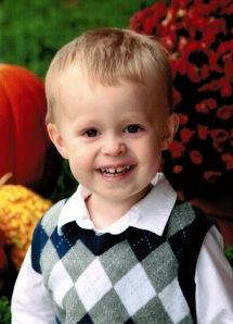 Nate's first school photo - age 2.5