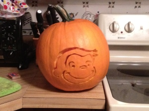 A pumpkin for nate from years past. (There aren't many pics for the early parts of this story...)